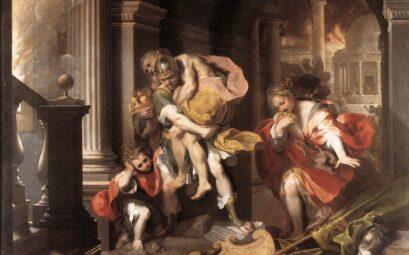 Бегство Энея. Фрагмент картины Ф.Бароччи.
